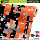 LARGE DIGITAL ORANGE TIGER Camouflage Vinyl Car Wrap Film Sheet Roll Adhesive