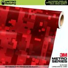 LARGE DIGITAL ELITE RED Camouflage Vinyl Car Wrap Camo Film Sheet Roll Adhesive