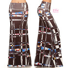 Painterly Brush Black blue red high waist fold over maxi long skirt (S/M/L/XL)