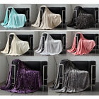 Metallic Stars Pattern Luxurious Throws Soft Warm Cosy Sofa Bed Fleece Blankets