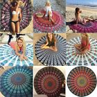 Indian Mandala Round Tapestry Beach Picnic Shawl Blanket Yoga Mat Bohemian Towel