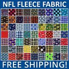 "NFL Fleece Fabric. All 32 NFL Teams Collection. 60"" Wide. Free Shipping. $16.95 USD"