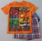 BLAZE AND THE MONSTER MACHINES Boys 4 5 6 7 Set OUTFIT Short Sleeve Shirt Shorts
