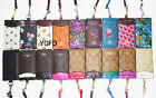 NWT Coach Lanyard ID Holder Neck Case Card Pass 63274 Black Pink Butterfly Brown