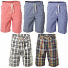 MENS KNEE LENGTH LONG SHORT CASUAL SUMMER BEACH 100% COTTON STRAIGHT PANTS S-2XL