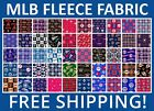 "MLB Fleece Fabric All Teams Sports Collection - 60"" Wide - Free Shipping on Ebay"