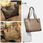 NWT Coach F29208 Zip Top Tote In Signature Canvas Handbag Shoulder Bag