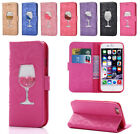 Glasses Bling Glitter Wallet Stand Case Cover for iPhone 5 5S SE 6 6S 7 8 Plus