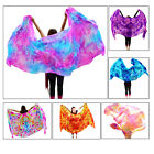 1pc 27m11m vibrant tie dye belly dance 5mm silk veil hand rolled edges