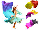 1PIECE right hand big size 1.8m*1.14m belly dance silk fan veil, various colors