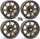 "STI HD5 Beadlock UTV Wheels/Rims Bronze 15"" Polaris RZR 1000 XP (4)"