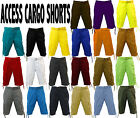NWT BRAND NEW OF MEN ACCESS 22 DIFFERENT COLORS OF SOLID CARGO SHORTS AS1505