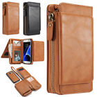 2in1 Leather Wallet Stand Case Removable Cover for Samsung Galaxy S5 S6 S7 Edge