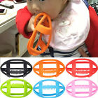 Infant Baby Hollow Rugby Teethers Soft Pacifier Pendant Soother Teething Toys