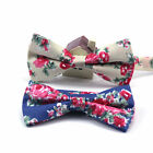 2017 Mens Cotton Colorful Flowers Bows Bowtie Wedding Party Adjustable Bow tie