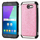 Pink Glitter Silver Plating COVER CASE for Samsung Galaxy J3 Emerge J3 2017 NEW