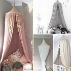 Kids Baby Bed Canopy Bedcover Mosquito Net Curtain Bedding Dome Tent Cotton UK