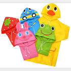 Внешний вид - Children Cartoon Rain Coat Kids Rainwear Cute Baby Funny Waterproof  Raincoat