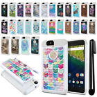 For Huawei Google Nexus 6P Anti Shock Studded Bling HYBRID Case Cover + Pen