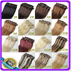 "15""16""18""20""22""24""26""28""30"" Clip In 100% Real Remy Human Hair Extension 7pcs/set"