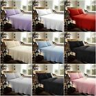 Plain Flannelette 100% Brushed Cotton Fitted & Flat Sheet Sets With Pillowcases image
