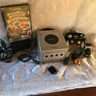 PLATINUM SILVER NINTENDO GAMECUBE CONSOLE BUNDLE WITH 2 GAMES PICK YOUR OWN