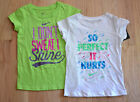 New $17 Authentic NIKE Girl's White or Gree T Shirt (4,5,6 Years)