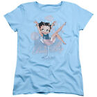 Betty Boop Sitting in PINK CHAMPAGNE Glass Bubbles Women's T-Shirt All Sizes $27.44 USD