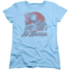 Betty Boop ALL AMERICAN BIKER Licensed Women's T-Shirt All Sizes $21.73 USD on eBay