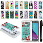 For Samsung Galaxy J3 Emerge J327 2nd Gen Anti Shock Sparkle HYBRID Case + Pen