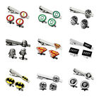 US Superhero The Avengers Justice League Marvel Cufflinks Tie Bar Clip Clasp Set $12.99 USD