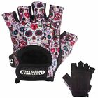 CLEARANCE 50% OFF! Contraband Pink Label 5237 Sugar Skull Lifting Gloves (PAIR)