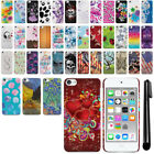 For Apple iPod Touch 5 5th/ 6 6th Gen Flag Skull HARD Back Case Cover + Pen