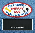 THERAPY DOG I COMFORT HUGS & KISSES PATCH 2X4 oval Danny & LuAnns Embroidery