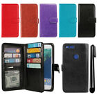 "For Google Pixel 5"" HTC Flip Card Holder Cash Slot Wallet Cover Case + Pen"