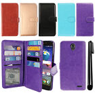 For ZTE Grand X 3 X3 Z959 Warp 7 N9519 Flip Card Holder Wallet Cover Case + Pen