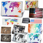 "Vintage World Map Matte Rubberized Smooth Hard Case For MacBook Pro Air 11""13""15"