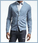 BANANA REPUBLIC MENS Silk Cotton Cashmere Cardigan BLUE M/L/XL NEW FREE SHIPPING