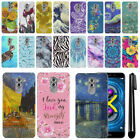 "For Huawei Honor 6X/ Mate 9 Lite 5.5"" Marble Design HARD Back Case Cover + Pen"