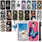 For LG Aristo MS210 LV3 M150 Fortune Butterfly Design HARD Back Case Cover + Pen