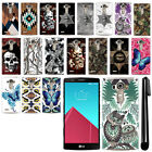 For LG G4 H815 F500 VS986 H810 Butterfly Design HARD Back Case Phone Cover + Pen