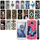 For Motorola Moto Z Play Droid XT1635 Butterfly HARD Back Case Phone Cover + Pen