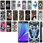 For Samsung Galaxy Note 5 N920 Butterfly Design HARD Back Case Phone Cover + Pen