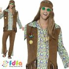 60s MULTI HIPPIE HIPPY inc MEDALLION & HEADBAND 34-48 mens fancy dress costume