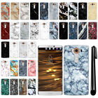 For LG V10 H900 VS990 H901 H968 H961N Marble Design HARD Back Case Cover + Pen