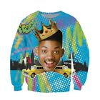 """Will Smith Fresh Prince of Bel Air"" 3D Print Crewneck Sweatshirt"