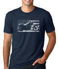 AMERICAN FLAG MOTORCYCLE veteran USA patriotic riding bike club chopper T-Shirt image