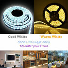5M 300 White SMD LED Ribbon Tape Roll Flexible Strip Neon Light Lamp / Adapter
