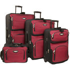 Travelers Choice Amsterdam 4-Piece Luggage Set 4 Colors