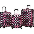 Rockland Luggage 3 Piece Monte Carlo Spinner Luggage Luggage Set NEW